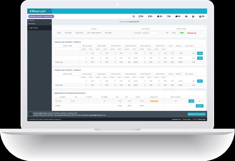 purchase order processing laptop screenshot