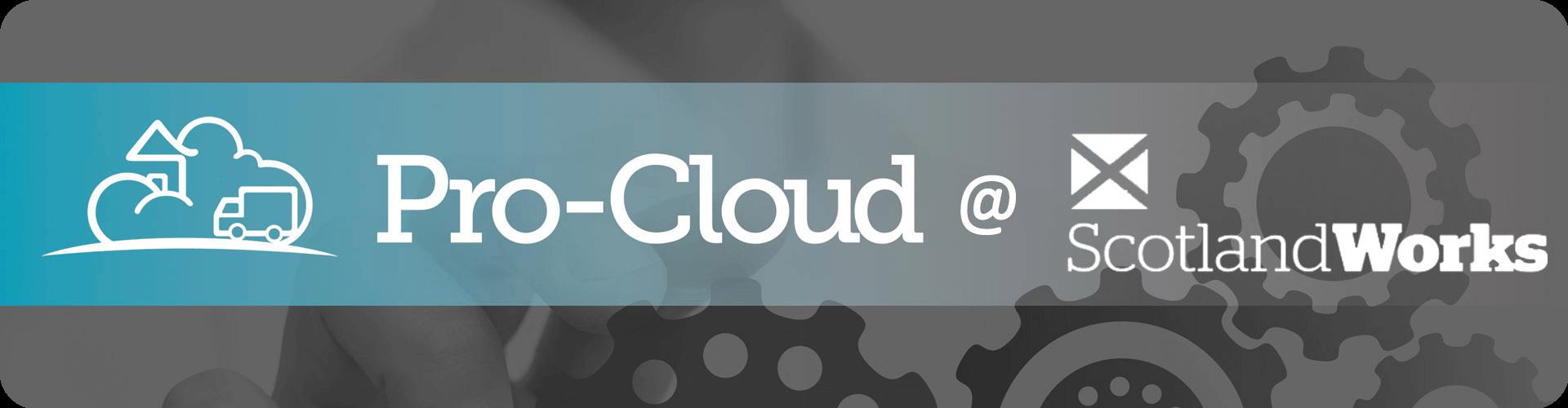 pro-cloud logo and scotland works logo