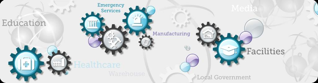 market sector logo icons