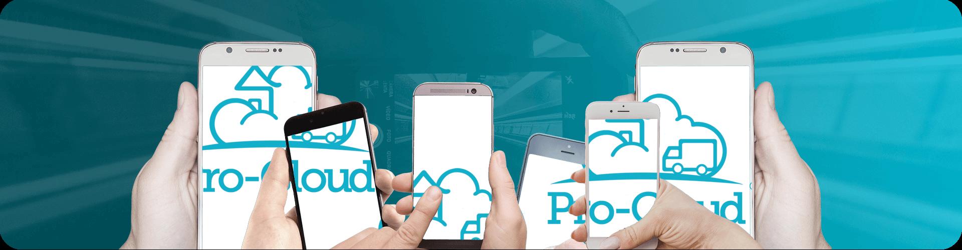 pro-cloud logo across mobile phones