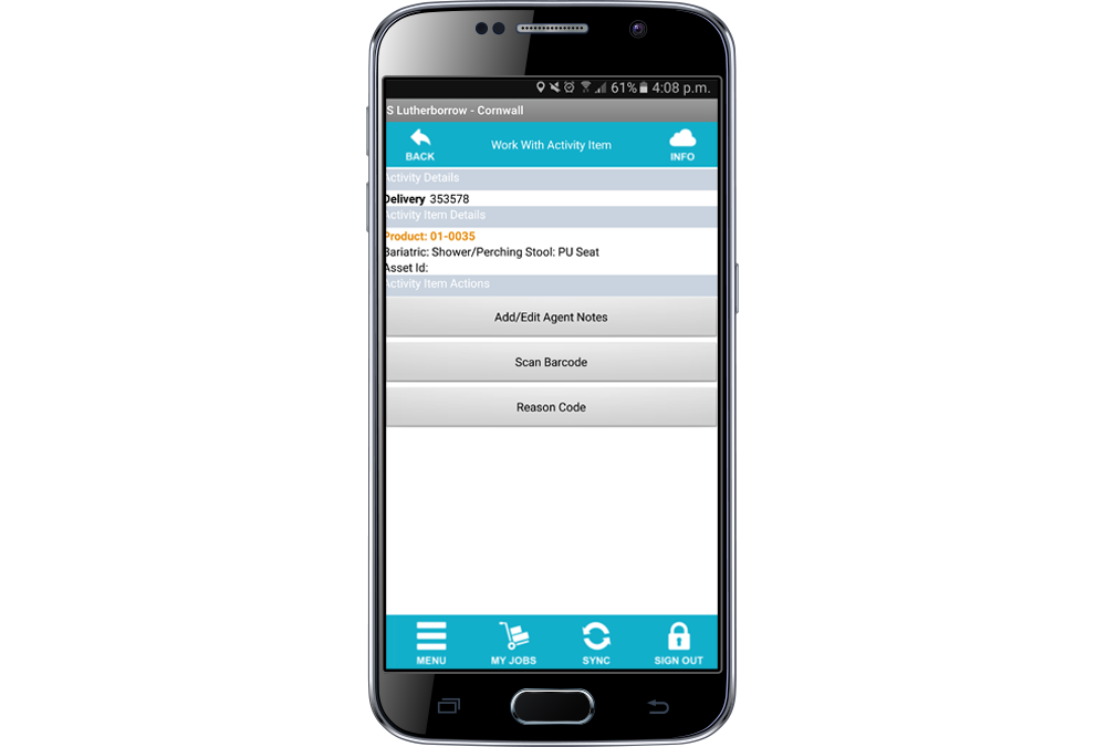 mobile phone app screenshot