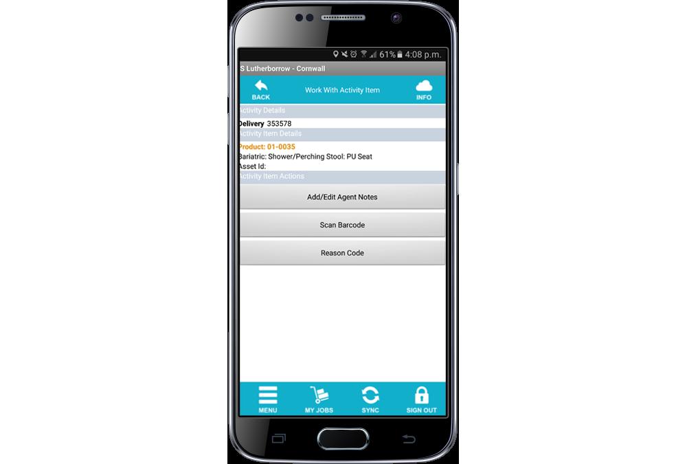 mobile phone app screenshot
