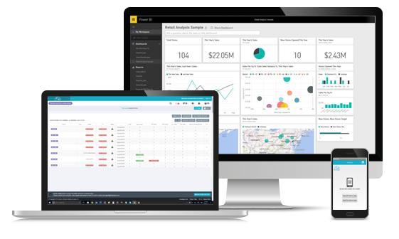 desktop, laptop and mobile screenshots of pro-cloud