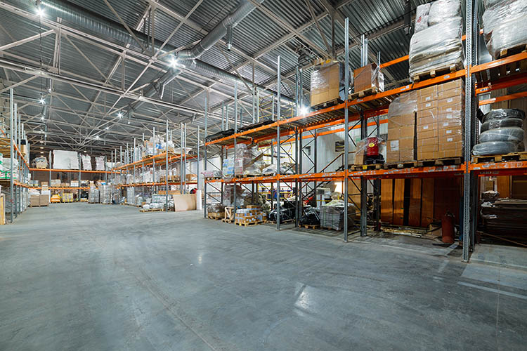 large warehouse of products