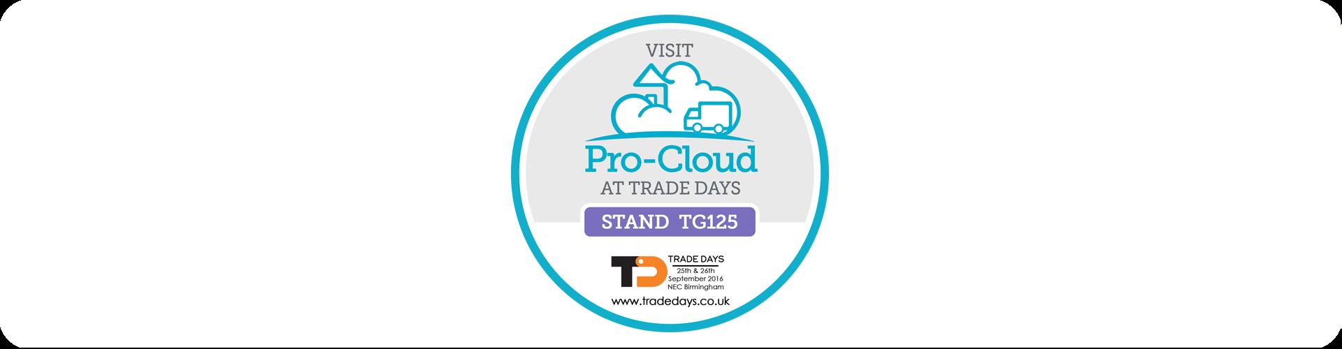 pro-cloud at trade days stamp
