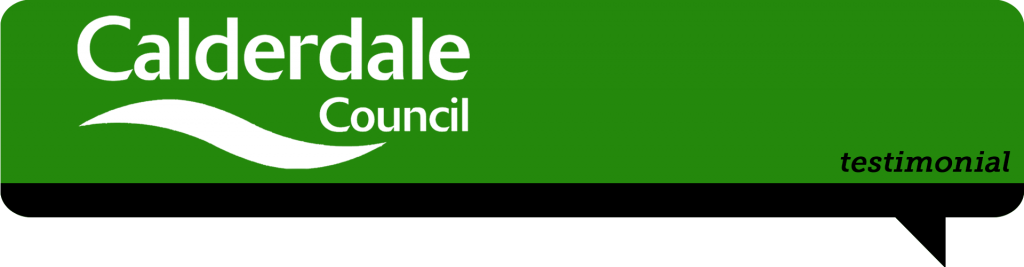 calderdale council logo in speech bubble