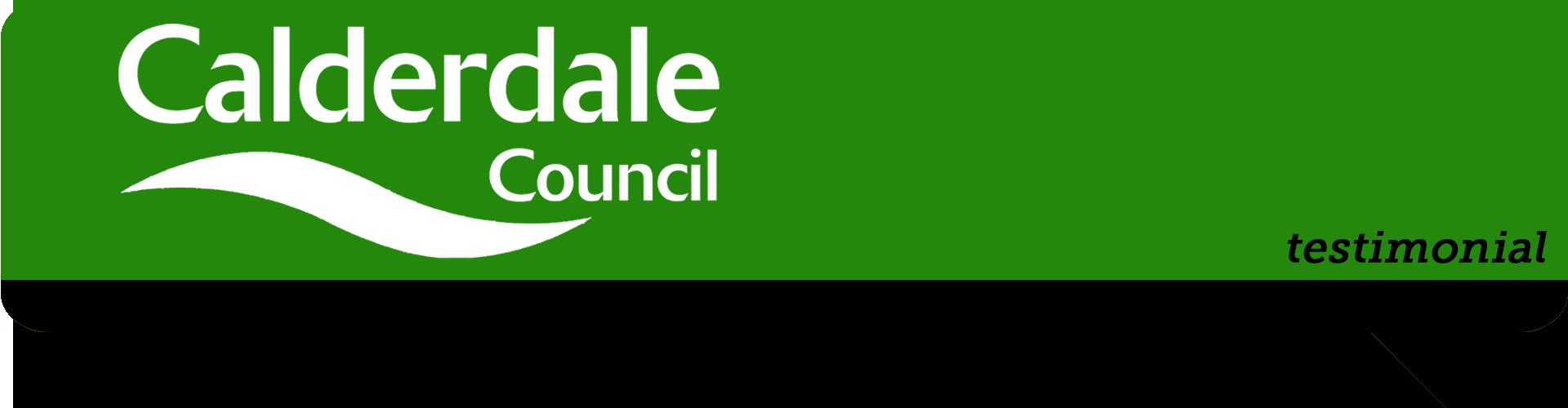 calderdale council logo in speech bubble