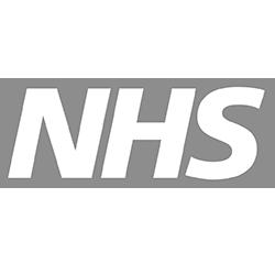 nhs logo in grey