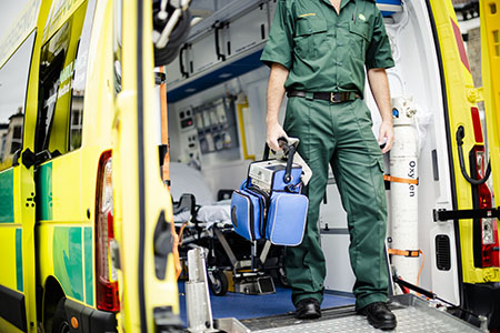 paramedic at work
